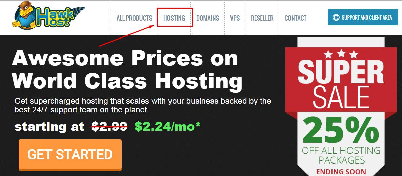 Hướng dẫn mua Hawk Host và cài đặt WordPress nhanh chóng