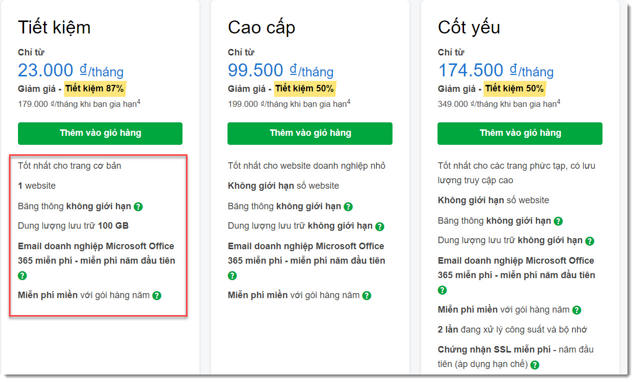 Wordpress Hosting của Godaddy