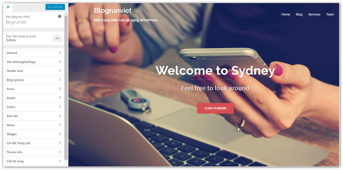 Chỉnh sửa giao diện WordPress theo chủ đề Website của bạn